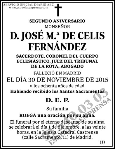 José M.ª de Celis Fernández
